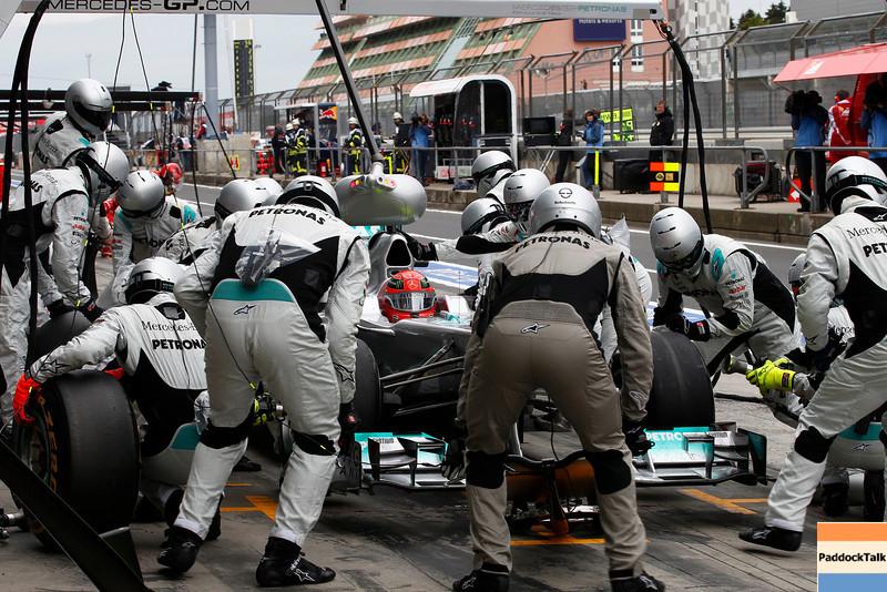 "Motorsports: FIA Formula One World Championship 2011, Grand Prix of Germany, 07 Michael Schumacher (GER, Mercedes GP Petronas F1 Team),  *** Local Caption *** +++  <a href=""http://www.hoch-zwei.net"">http://www.hoch-zwei.net</a> +++ copyright: HOCH ZWEI +++"