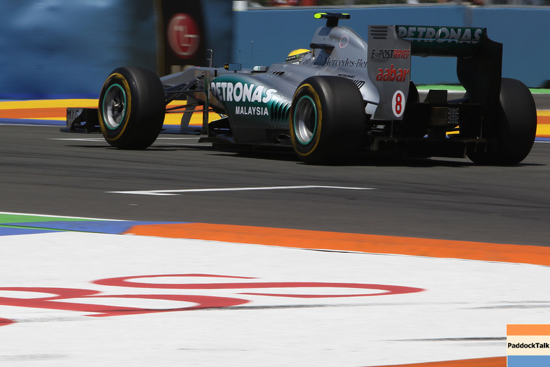 Motorsports: FIA Formula One World Championship 2011, Grand Prix of Europe, 08 Nico Rosberg (GER, Mercedes GP Petronas),