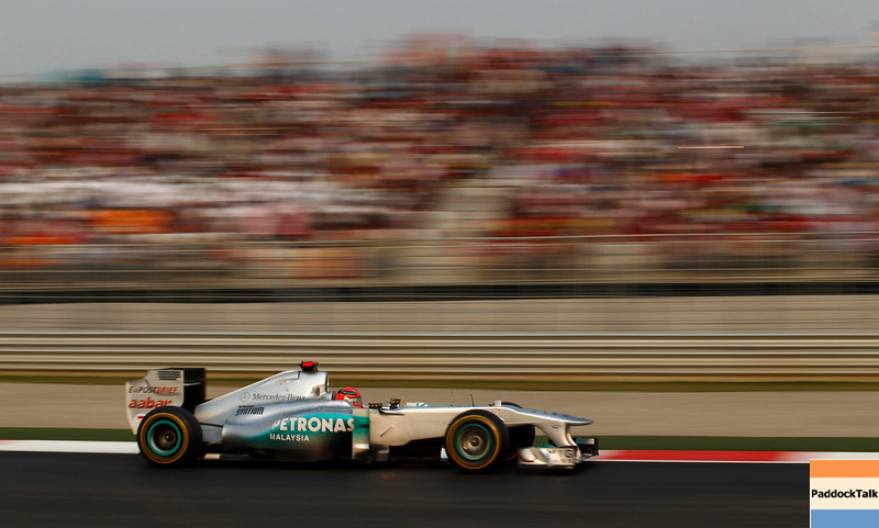 Motorsports: FIA Formula One World Championship 2011, Grand Prix of India, 07 Michael Schumacher (GER, Mercedes GP Petronas F1 Team),