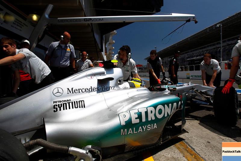 Motorsports: FIA Formula One World Championship 2011, Grand Prix of Brazil, 08 Nico Rosberg (GER, Mercedes GP Petronas F1 Team),