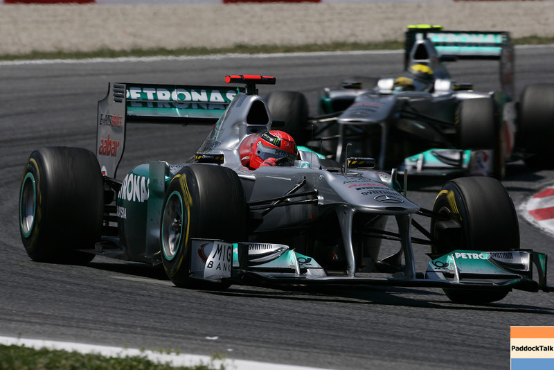 Motorsports: FIA Formula One World Championship 2011, Grand Prix of Spain, 07 Michael Schumacher (GER, Mercedes GP Petronas F1 Team),   08 Nico Rosberg (GER, Mercedes GP Petronas F1 Team),