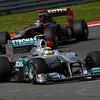 Motorsports: FIA Formula One World Championship 2011, Grand Prix of Turkey, 08 Nico Rosberg (GER, Mercedes GP Petronas F1 Team), 09 Nick Heidfeld (GER, Lotus Renault GP),