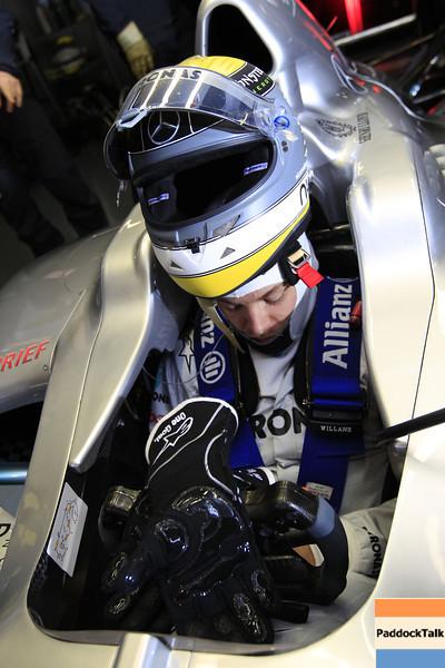"Motorsports: FIA Formula One World Championship 2011, Test Barcelona,  08 Nico Rosberg (GER, Mercedes GP Petronas F1 Team),  *** Local Caption *** +++  <a href=""http://www.hoch-zwei.net"">http://www.hoch-zwei.net</a> +++ copyright: HOCH ZWEI +++"