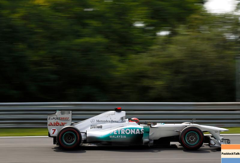 Motorsports: FIA Formula One World Championship 2011, Grand Prix of Hungary, 07 Michael Schumacher (GER, Mercedes GP Petronas F1 Team),