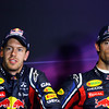 GEPA-09071199020 - FORMULA 1 - Grand Prix of Great Britain. Image shows Sebastian Vettel (GER/ Red Bull Racing) and Mark Webber (AUS/ Red Bull Racing). Photo: Getty Images/ Mark Thompson - For editorial use only. Image is free of charge