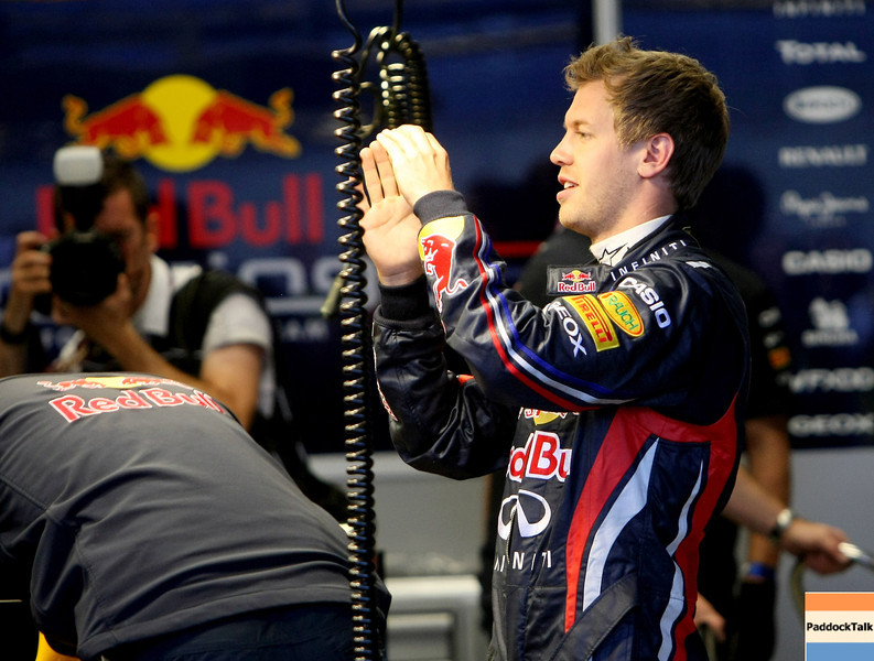 GEPA-14051181183 - SPIELBERG,AUSTRIA,14.MAY.11 - MOTORSPORT, FORMULA 1 - Media Day Red Bull Ring, project Spielberg. Image shows Sebastian Vettel (GER/ Red Bull Racing). Photo: GEPA pictures/ Christian Walgram - For editorial use only. Image is free of charge.
