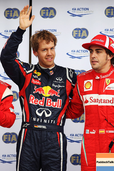 GEPA-11061199025 - FORMULA 1 - Grand Prix of Canada. Image shows Sebastian Vettel (GER/ Red Bull Racing) and Fernando Alonso (ESP/ Ferrari). Photo: Mark Thompson/ Getty Images - For editorial use only. Image is free of charge