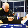 GEPA-03021199019 - FORMULA 1 - Testing in Valencia. Image shows chief technical oficer Adrian Newey (Red Bull Racing) and Mark Webber (AUS/ Red Bull Racing). Photo: Mark Thompson/ Getty Images - For editorial use only. Image is free of charge