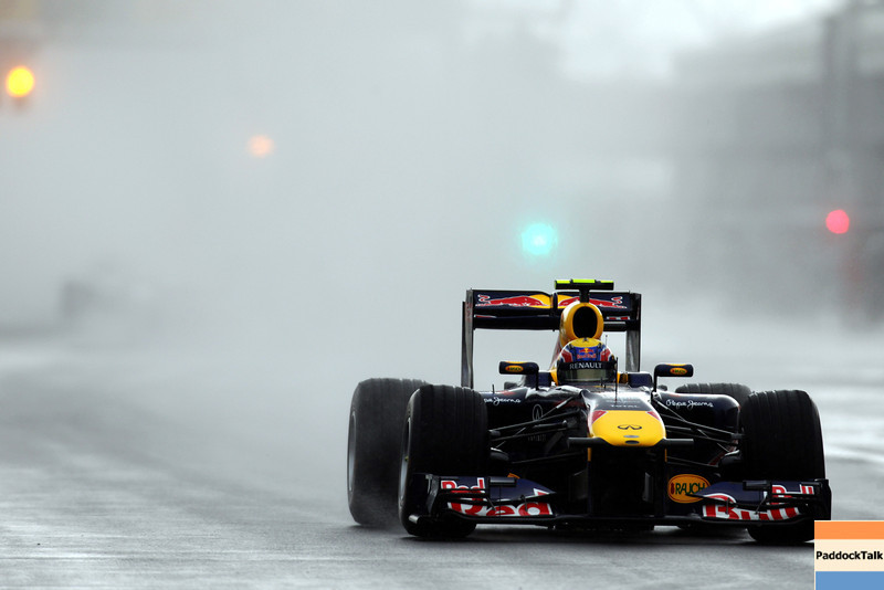 GEPA-12061199001 - FORMULA 1 - Grand Prix of Canada. Image shows Mark Webber (AUS/ Red Bull Racing). Keywords: rain. Photo: Paul Gilham/ Getty Images - For editorial use only. Image is free of charge