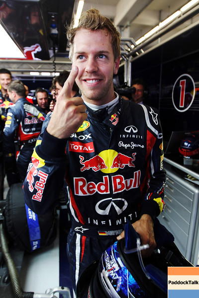 GEPA-07051199006 - FORMULA 1 - Grand Prix of Turkey. Image shows the rejoicing of Sebastian Vettel (GER/ Red Bull Racing). Photo: Mark Thompson/ Getty Images - For editorial use only. Image is free of charge