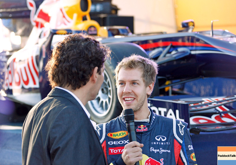 GEPA-22101199526 - FORMULA 1 - World Championship Party. Image shows Sebastian Vettel (GER/ Red Bull Racing). Photo: Getty Images/ Daniel Grund - For editorial use only. Image is free of charge