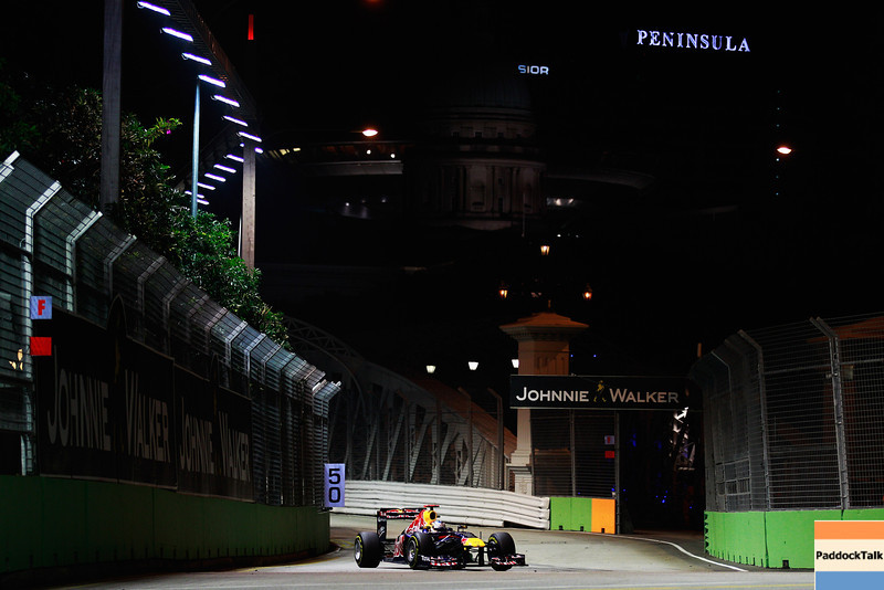 GEPA-25091199019 - FORMULA 1 - Grand Prix of Singapore. Image shows Sebastian Vettel (GER/ Red Bull Racing). Photo: Getty Images/ Paul Gilham - For editorial use only. Image is free of charge