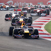 GEPA-30101199003 - FORMULA 1 - Grand Prix of India, Buddh-International-Circuit. Image shows Sebastian Vettel (GER/ Red Bull Racing) and Mark Webber (AUS/ Red Bull Racing). Photo: Getty Images/ Ker Robertson - For editorial use only. Image is free of charge