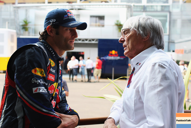 GEPA-10091199003 - FORMULA 1 - Grand Prix of Italy. Image shows Mark Webber (AUS/ Red Bull Racing) and Bernie Ecclestone. Photo: Getty Images/ Mark Thompson - For editorial use only. Image is free of charge