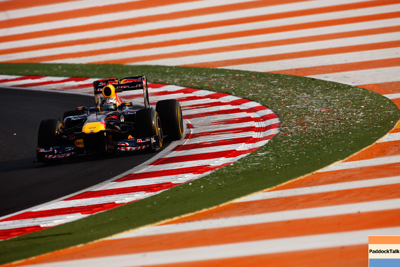 GEPA-28101199027 - FORMULA 1 - Grand Prix of India, Buddh-International-Circuit. Image shows Sebastian Vettel (GER/ Red Bull Racing). Photo: Getty Images/ Mark Thompson - For editorial use only. Image is free of charge