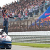 GEPA-14081199902 - ZANDVOORT,NETHERLANDS,14.AUG.11 - MOTORSPORT, FORMULA 1 - RTL GP Masters of Formula 3, Red Bull Kart Fight, Showrun, Circuit Park Zandvoort. Image shows Daniel Ricciardo (AUS). Photo: Red Bull - For editorial use only. Image is free of charge.