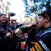GEPA-29051199009 - FORMULA 1 - Grand Prix of Monaco. Image shows the rejoicing of Sebastian Vettel (GER/ Red Bull Racing).  Photo: Mark Thompson/ Getty Images - For editorial use only. Image is free of charge