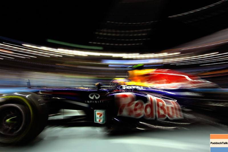 GEPA-24091199011 - FORMULA 1 - Grand Prix of Singapore. Image shows Mark Webber (AUS/ Red Bull Racing). Photo: Getty Images/ Paul Gilham - For editorial use only. Image is free of charge