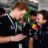 GEPA-10071199003 - FORMULA 1 - Grand Prix of Great Britain. Image shows Prince Harry and team principal Christian Horner (Red Bull Racing Team). Photo: Getty Images/ Mark Thompson - For editorial use only. Image is free of charge