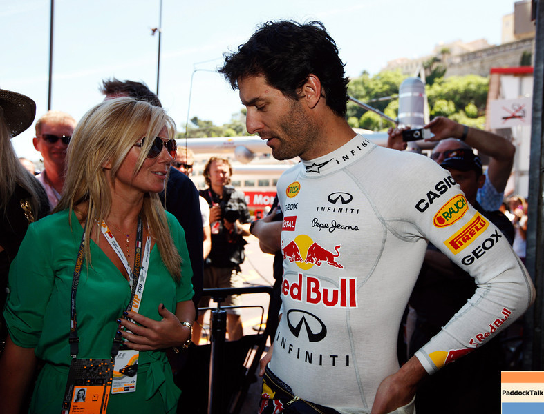 GEPA-29051199004 - FORMULA 1 - Grand Prix of Monaco. Image shows Geri Halliwell and Mark Webber (AUS/ Red Bull Racing). Photo: Mark Thompson/ Getty Images - For editorial use only. Image is free of charge