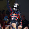GEPA-30101199027 - FORMULA 1 - Grand Prix of India, Buddh-International-Circuit. Image shows the rejoicing of Sebastian Vettel (GER/ Red Bull Racing). Photo: Getty Images/ Clive Mason - For editorial use only. Image is free of charge