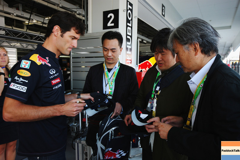 GEPA-09101199007 - FORMULA 1 - Grand Prix of Japan. Image shows Mark Webber (AUS/ Red Bull Racing/ left). Photo: Getty Images/ Mark Thompson - For editorial use only. Image is free of charge