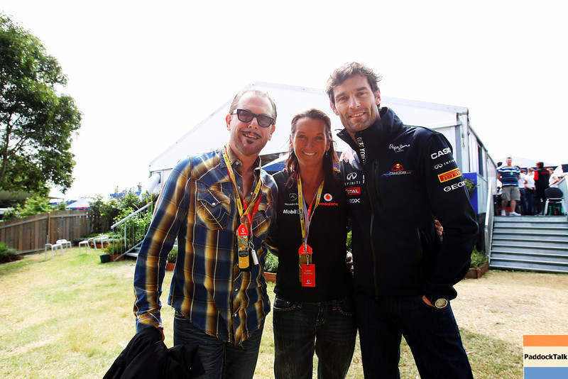 GEPA-27031199005 - FORMULA 1 - Grand Prix of Australia, Red Bull Australia Pavilion. Image shows Kirk Pengilly, Layne Beachley and Mark Webber (AUS/ Red Bull Racing). Photo: Getty Images/ Robert Cianflone - For editorial use only. Image is free of charge