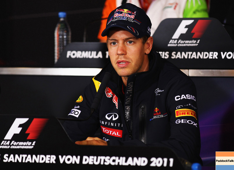 GEPA-21071199003 - FORMULA 1 - Grand Prix of Germany, Nuerburgring. Image shows Sebastian Vettel (GER/ Red Bull Racing). Photo: Getty Images/ Clive Mason - For editorial use only. Image is free of charge