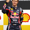 GEPA-28081199007 - FORMULA 1 - Grand Prix of Belgium, Spa Francorchamps. Image shows the rejoicing of Sebastian Vettel (GER/ Red Bull Racing). Keywords: award ceremony. Photo: Getty Images/ Vladimir Rys - For editorial use only. Image is free of charge