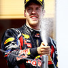 GEPA-22051199013 - FORMULA 1 - Grand Prix of Spain. Image shows Sebastian Vettel (GER/ Red Bull Racing). Keywords: award ceremony, podium. Photo: Paul Gilham/ Getty Images - For editorial use only. Image is free of charge