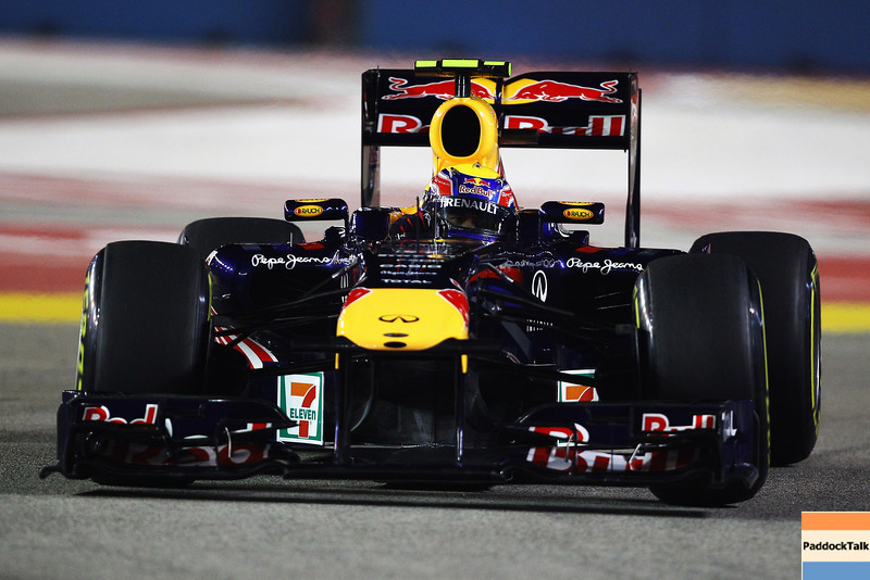 GEPA-24091199023 - FORMULA 1 - Grand Prix of Singapore. Image shows Mark Webber (AUS/ Red Bull Racing). Photo: Getty Images/ Vladimir Rys - For editorial use only. Image is free of charge