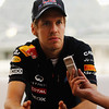 GEPA-10111199012 - FORMULA 1 - Grand Prix of Abu Dhabi, Yas Marina Circuit. Image shows Sebastian Vettel (GER/ Red Bull Racing) is interviewed in the paddock. Photo: Getty Images/ Paul Gilham - For editorial use only. Image is free of charge