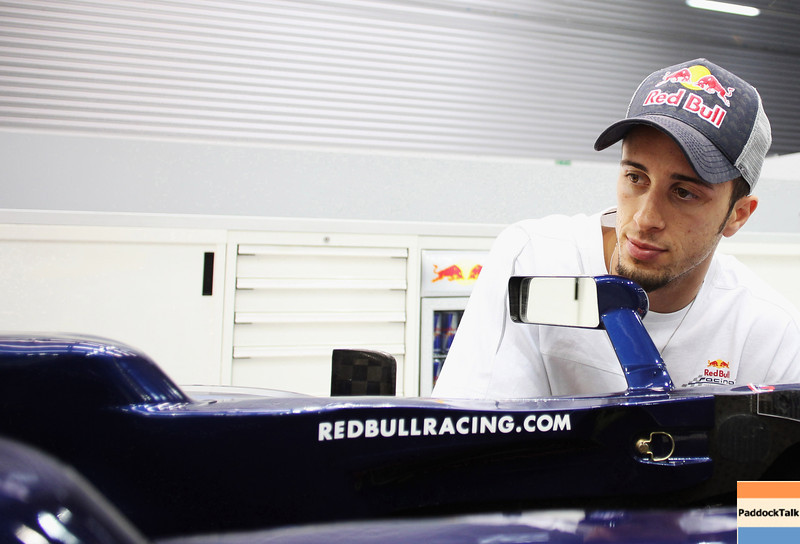 GEPA-08061199008 - FORMULA 1, MOTOGP - MotoGP Riders Visit Red Bull Factory. Image shows Andrea Dovizioso (ITA/ Honda). Photo: Getty Images/ Bryn Lennon - For editorial use only. Image is free of charge