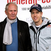 GEPA-15051181032 - SPIELBERG,AUSTRIA,15.MAY.11 - MOTORSPORT - Open House Day Red Bull Ring, project Spielberg, perpetuation of Helmut Marko and Sebastian Vettel, Strasse der Sieger. Image shows motorsport consultant Helmut Marko (Red Bull) and Sebastian Vettel (GER/ Red Bull Racing). Photo: GEPA pictures/ Christian Walgram - For editorial use only. Image is free of charge.