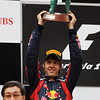 GEPA-17041199010 - FORMULA 1 - Grand Prix of China. Image shows Sebastian Vettel (GER/ Red Bull Racing). keywords: trophy. Photo: Getty Images/ Mark Thompson - For editorial use only. Image is free of charge