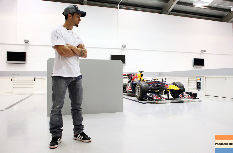 GEPA-08061199022 - FORMULA 1, MOTOGP - MotoGP Riders Visit Red Bull Factory. Image shows Andrea Dovizioso (ITA/ Honda). Photo: Getty Images/ Bryn Lennon - For editorial use only. Image is free of charge
