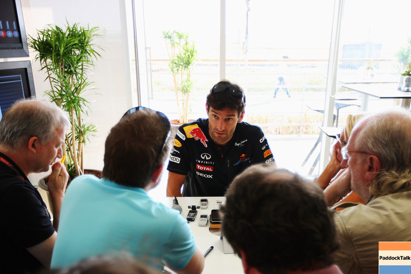 GEPA-13101199003 - FORMULA 1 - Grand Prix of South Korea, Korean International Circuit. Image shows Mark Webber (AUS/ Red Bull Racing). Keywords: interview. Photo: Getty Images/ Mark Thompson - For editorial use only. Image is free of charge