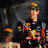 GEPA-27031199015 - FORMULA 1 - Grand Prix of Australia, award ceremony. Image shows the rejoicing of Sebastian Vettel (GER/ Red Bull Racing). Photo: Getty Images/ Clive Mason - For editorial use only. Image is free of charge