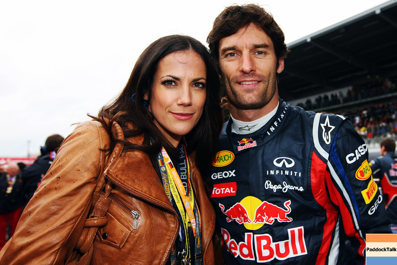 GEPA-24071199001 - FORMULA 1 - Grand Prix of Germany, Nuerburgring. Image shows actress Bettina Zimmermann and Mark Webber (AUS/ Red Bull Racing). Photo: Getty Images/ Mark Thompson - For editorial use only. Image is free of charge