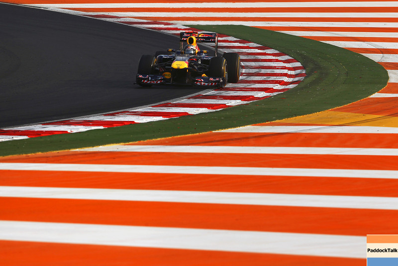 GEPA-30101199009 - FORMULA 1 - Grand Prix of India, Buddh-International-Circuit. Image shows Sebastian Vettel (GER/ Red Bull Racing). Photo: Getty Images/ Clive Mason - For editorial use only. Image is free of charge