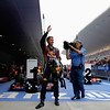 GEPA-30101199019 - FORMULA 1 - Grand Prix of India, Buddh-International-Circuit. Image shows the rejoicing of Sebastian Vettel (GER/ Red Bull Racing). Photo: Getty Images/ Paul Gilham - For editorial use only. Image is free of charge