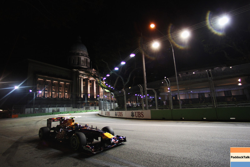 GEPA-24091199014 - FORMULA 1 - Grand Prix of Singapore. Image shows Mark Webber (AUS/ Red Bull Racing). Photo: Getty Images/ Mark Thompson - For editorial use only. Image is free of charge