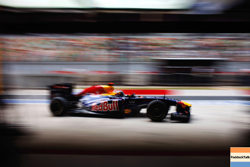 GEPA-29101199012 - FORMULA 1 - Grand Prix of India, Buddh-International-Circuit. Image shows Sebastian Vettel (GER/ Red Bull Racing). Photo: Getty Images/ Mark Thompson - For editorial use only. Image is free of charge
