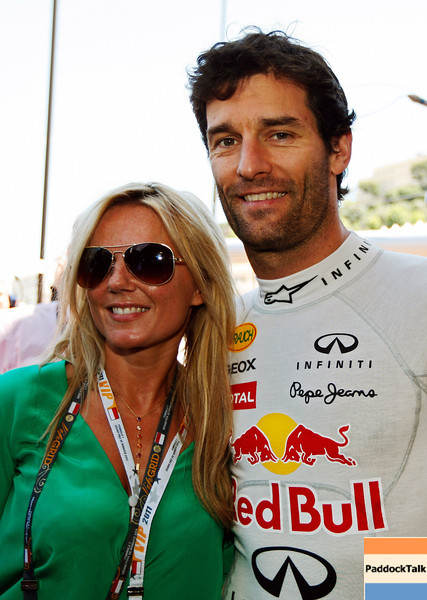 GEPA-29051199005 - FORMULA 1 - Grand Prix of Monaco. Image shows Geri Halliwell and Mark Webber (AUS/ Red Bull Racing).  Photo: Mark Thompson/ Getty Images - For editorial use only. Image is free of charge