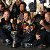 GEPA-09101199103 - FORMULA 1 - Grand Prix of Japan. Image shows team principal Christian Horner, Sebastian Vettel (GER) and technical officer Adrian Newey (Red Bull Racing). Keywords: trophy. Photo: Getty Images/ Clive Rose - For editorial use only. Image is free of charge