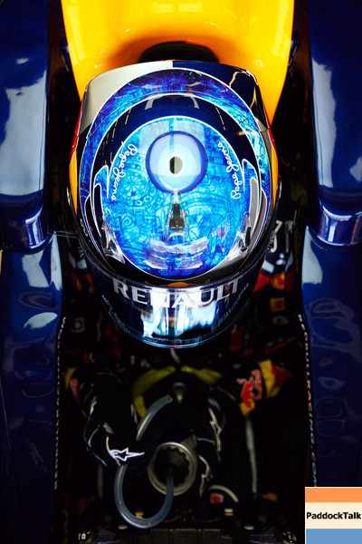 GEPA-07051199013 - FORMULA 1 - Grand Prix of Turkey. Image shows the helmet of Sebastian Vettel (GER/ Red Bull Racing). Photo: Mark Thompson/ Getty Images - For editorial use only. Image is free of charge