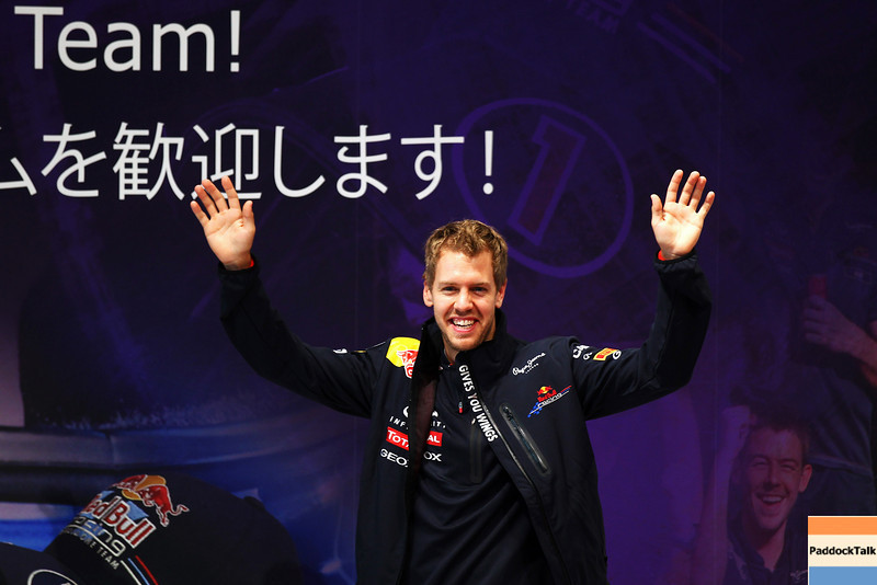 GEPA-10101199012 - FORMULA 1 - Grand Prix of Japan. Image shows the rejoicing of Sebastian Vettel (GER/ Red Bull Racing). Photo: Getty Images/ Mark Thompson - For editorial use only. Image is free of charge