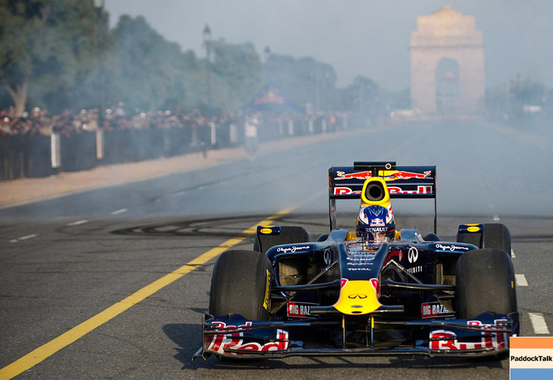 GEPA-01101199701 - FORMULA 1 - Grand Prix of India, preview, showrun. Image shows Daniel Ricciardo (AUS). Photo: Getty Images - For editorial use only. Image is free of charge