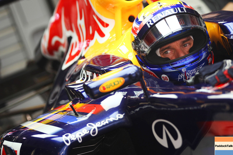 GEPA-29101199014 - FORMULA 1 - Grand Prix of India, Buddh-International-Circuit. Image shows Mark Webber (AUS/ Red Bull Racing). Photo: Getty Images/ Mark Thompson - For editorial use only. Image is free of charge