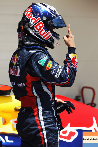 GEPA-25061199014 - FORMULA 1 - Grand Prix of Europe. Image shows the rejoicing of Sebastian Vettel (GER/ Red Bull Racing). Photo: Mark Thompson/ Getty Images - For editorial use only. Image is free of charge